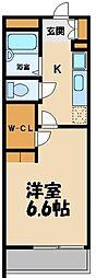 東武越生線 武州長瀬駅 徒歩3分の賃貸アパート 1階1Kの間取り
