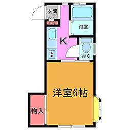 東京都江戸川区東小岩6丁目の賃貸マンションの間取り