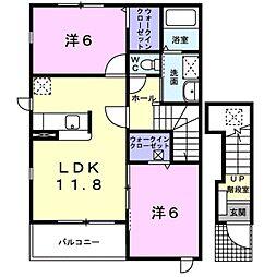 ラ・セゾン[2階]の間取り
