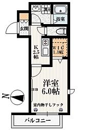 JR山手線 高田馬場駅 徒歩9分の賃貸マンション 3階1Kの間取り