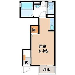 栃木県宇都宮市城東2の賃貸アパートの間取り