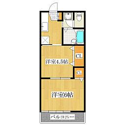 第3ヒルズハウス[101号室]の間取り