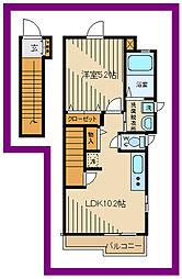 ルミノッサ 2階1LDKの間取り
