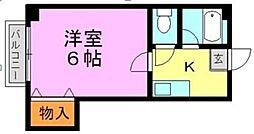 サンフォーレスト井尻[305号室]の間取り