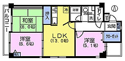 MARUNI BLDG[2階]の間取り