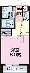 愛知県安城市桜町の賃貸アパートの間取り