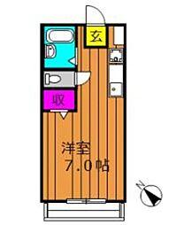 グランデカーサ[207号室]の間取り