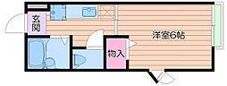 クリオコート箕面[1階]の間取り