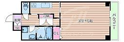 北大阪急行電鉄 桃山台駅 徒歩7分の賃貸マンション 2階1Kの間取り