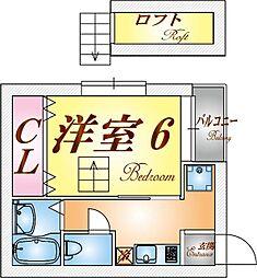 兵庫県神戸市長田区池田広町の賃貸アパートの間取り