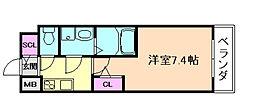 サムティ福島ルフレ 6階1Kの間取り
