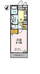 東武野田線 大宮公園駅 徒歩5分の賃貸アパート 3階1Kの間取り