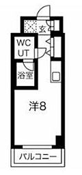 JR京浜東北・根岸線 川崎駅 徒歩4分の賃貸マンション 1階ワンルームの間取り