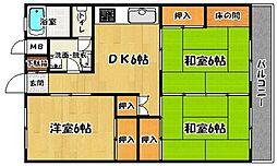 鶴亀コーポ[503号室]の間取り