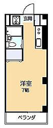 キャッスル南生田[3階]の間取り