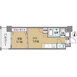 クリスタル&リゾートスカイプレミア[402号室]の間取り