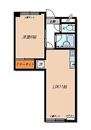 桑島ビルA[2階]の間取り