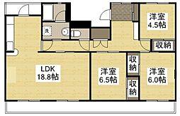 K'sB庄 III[1階]の間取り
