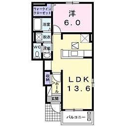 神奈川県横浜市栄区飯島町の賃貸アパートの間取り