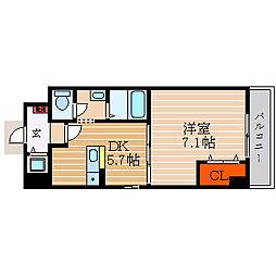 滋賀県彦根市小泉町の賃貸マンションの間取り