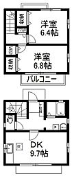 [一戸建] 埼玉県上尾市富士見2丁目 の賃貸【/】の間取り