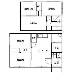 [一戸建] 北海道札幌市西区西野七条8丁目 の賃貸【/】の間取り