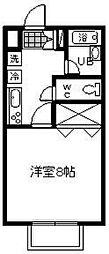 パーシモンコート[105号室]の間取り