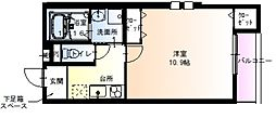 Osaka Metro谷町線 太子橋今市駅 徒歩5分の賃貸アパート 1階1Kの間取り