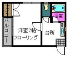 ピナクル神松寺[106号室]の間取り