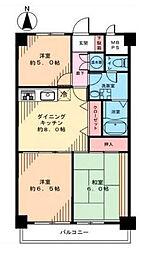 神奈川県茅ヶ崎市若松町の賃貸マンションの間取り