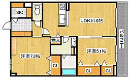 (仮)城東区シャーメゾン今福西4丁目PJ[305号室]の間取り