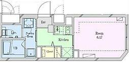 仮)豪徳寺新築マンション 2階1Kの間取り