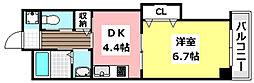 大阪モノレール彩都線 豊川駅 徒歩1分の賃貸マンション 3階1DKの間取り