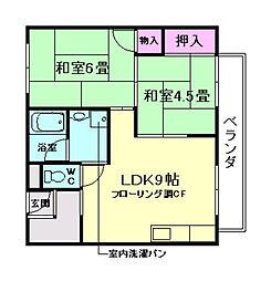箕面ガーデニアハイツ[1階]の間取り