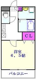 つくばエクスプレス 三郷中央駅 徒歩5分の賃貸アパート 3階1Kの間取り