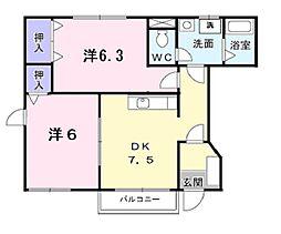 コテージ・彩[1階]の間取り