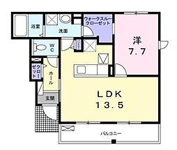 東武伊勢崎線 谷塚駅 徒歩27分の賃貸アパート 1階1LDKの間取り