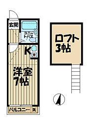 R-KAMAKURA[203号室]の間取り