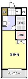 愛知県豊橋市弥生町字西豊和の賃貸アパートの間取り