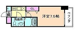 ラグゼ海老江[4階]の間取り