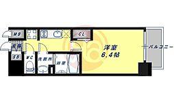 JR大阪環状線 鶴橋駅 徒歩5分の賃貸マンション 8階1Kの間取り