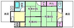 [テラスハウス] 大阪府枚方市出口3丁目 の賃貸【/】の間取り