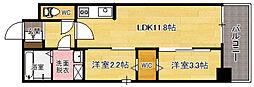 modern palazzo天神南[3階]の間取り