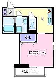VILLA北花田D-room[3階]の間取り