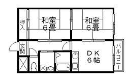 サングリーン小鳥ヶ原[203号室]の間取り