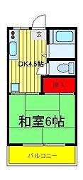 パールハイツ(西柏台)[1階]の間取り