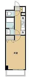N-stage Kamikitadai 4階1Kの間取り