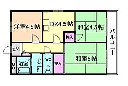 エスポアール藤[2階]の間取り