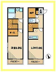 Luce 2階1SLDKの間取り