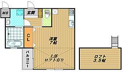 エビラ須磨[1階]の間取り